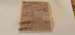 BIGLIETTO TRENO AGENZIA EUREKA DA ROMA TERMINI A PALERMO CENTRALE  1989 - Europe