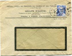 """FRANCE LETTRE A ENTETE DES """"HOUILLERES DU BASSIN DU NORD ET DU PAS DE CALAIS...."""" DEPART AUCHEL 23-5-1949 - 1945-54 Marianna Di Gandon"""