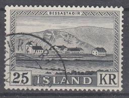 +Iceland 1957. Bessastadir. MICHEL 319. Cancelled - 1944-... Republique