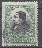 +Iceland 1957. Hallgrimsson. MICHEL 322. Cancelled - 1944-... Republique