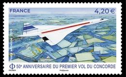 France 2019 Timbre - 50 Ans Du Premier Vol Du Concorde MNH / Neuf - France