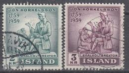 +Iceland 1959. Thorkelsson. MICHEL 331-32. Cancelled - 1944-... Republique