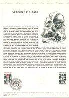 DOCUMENT FDC 1976 CENTENAIRE BATAILLE DE VERDUN - Documents De La Poste