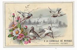 Chromo A LA LA CORBEILLE De MARIAGE - Nouveautés, Reims Sogg B 8,8x13,6 OTTIMO STATO - Sonstige