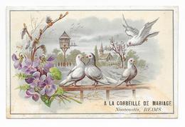 Chromo A LA LA CORBEILLE De MARIAGE - Nouveautés, Reims Sogg C 8,8x13,6 OTTIMO STATO - Sonstige