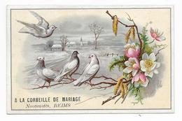 Chromo A LA LA CORBEILLE De MARIAGE - Nouveautés, Reims Sogg D 8,8x13,6 OTTIMO STATO - Sonstige