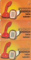 Turkey, TR-TT-N-0135, 135a And 135b, Bindokuzyüzatmissekiz - 1968, Telephone Sets From Past Till Present 3, 2 Scans, - Turchia