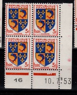 Coin Daté - YV 954 N** Du 10.7.53 , 3 Points - Ecken (Datum)