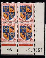 Coin Daté - YV 954 N** Du 9.7.53 , 1 Point - Ecken (Datum)