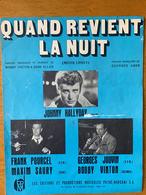 1 PARTITION JOHNNY HALLYDAY QUAND REVIENT LA NUIT - Partituras