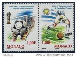 "Monaco YT 2465 & 2466 Paire "" Coupe Du Monde Football "" 2004 Neuf** - Unused Stamps"