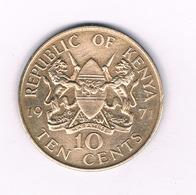 10 CENTS   1971 KENIA /3943/ - Kenia