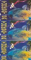 Turkey, TR-TT-N-0145, 145a And 145b, Turksat 2A - World Map 11.01.2001,  Satellites, 2 Scans, - Turchia