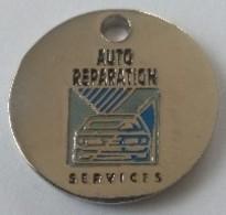 Jeton De Caddie - Automobiles - AUTO REPARATION SERVICES - CARROSSERIE SERVICES - En Métal - NEUF - - Jetons De Caddies