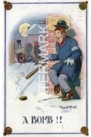 A BOMB OLD COMIC POSTCARD DONALD McGILL POLICE INTEREST - Comicfiguren