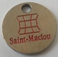Jeton De Caddie - Saint-Maclou - En Métal - - Jetons De Caddies