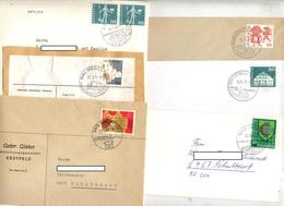 Lot 28 Lettres Cachet Commune Sur Affranchissement à Voir - Postmark Collection