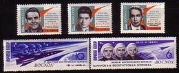 RUSSIA - UdSSR - 1964 - Kosmos - Woschod - 5v** - 1923-1991 USSR