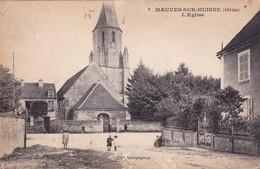 61-MAUVES-SUR-HUISNE- L'EGLISE-ANIMEE - France
