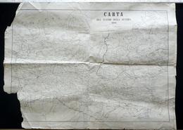 Carta Del Teatro Della Guerra 1859 P. Menozzi Reggio Emilia Risorgimento - Otras Colecciones
