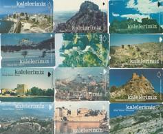 Turkey, TR-TT-N-0146 - 0157, Set Of 12 Cards, Castles In Turkey, 2 Scans, - Turchia