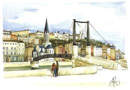 *CPM - 69 - LYON - La Passerelle Saint Georges - Aquarelle De Michel PELLETIER De Lyon - Lyon