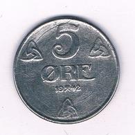 5 ORE  1942 NOORWEGEN /3951/ - Norvegia
