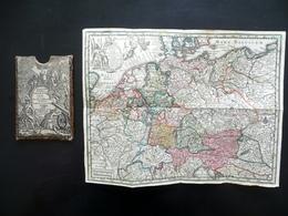 Carta Incisa Imperium Romano Germanicum Sacro Romano Impero Seutter Fine '700 - Otras Colecciones