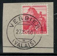 Suisse // Schweiz // Non Classée // Valais //  Oblitération Valaisanne Sur Fragment, Verbier - Ohne Zuordnung