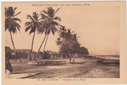 Cote D'ivoire : Pirogues Sur La Plage : Missions Africaines : - Ivory Coast