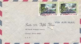 JAMAIQUE ENVELOPPE CIRCULEE DE NHITFIELD TOWN A CHICAGO, ETATS UNIS ANNEE 1967 PAR AVION -LILHU - Jamaica (1962-...)