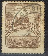 Sello 5 Cts ASTURIAS Y LEON 1936. Fechador De POLA De SIERO (Asturias), Num 6 º - Asturias & Leon