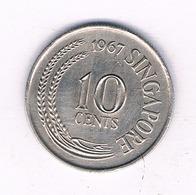 10 CENTS 1967 SINGAPORE /3954/ - Singapore