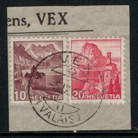 Suisse // Schweiz // Non Classée // Valais //  Oblitération Valaisanne Sur Fragment, Vex - Ohne Zuordnung