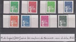 France Luquet (2001) Les Couleurs De Marianne Y/T N° 3083 + 3091/96 + 3098 ** Type II Sans Phosphore Issus Du Bloc B42 - 1997-04 Marianne Of July 14th