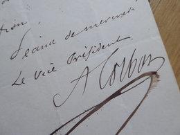 CORBON (1808-1891) SCULPTEUR. Maire PARIS XV Face Victor Hugo (COMMUNE 1870) AUTOGRAPHE - Autographs