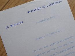 Camille CHAUTEMPS (1885-1963) PRESIDENT Du CONSEIL . Ministre INTERIEUR ... - AUTOGRAPHE - Autografi