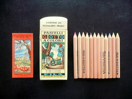 Giotto Fila Confezione 12 Pastelli A Colori Segnalibro Paesaggi D'Italia Sicilia - Autres Collections