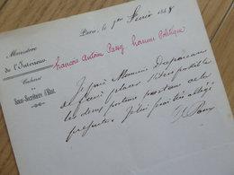 Antoine PASSY (1792-1873) Botaniste LES ANDELYS. ACADEMIE SCIENCES. Autographe - Handtekening