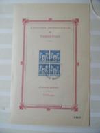 Bloc Type Exposition Internationale De Timbres Paris 1925  Timbre Bleu Expo Philathelique  Paris 1989 - Blocs & Feuillets