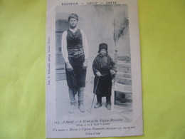 SOUVENIR  1907   Crète       Un Nain- Moine à Toplou Manastir  Sitia - Crète      TBE - Greece