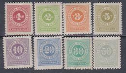Monténégro Timbre Taxe N° 1 / 8 X La Série Des 8 Valeurs  Trace De Charnière Sinon TB - Montenegro