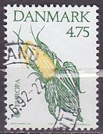 Timbre Oblitéré N° 1029(Yvert) Danemark 1992 - Europa, épis De Maïs - Europa-CEPT