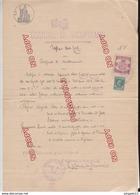Fixe Comune Di Vicopisano Pisa Stato Civile Certificato Matrimonio Timbre Fiscal 11 Gen 1933 - 1900-44 Vittorio Emanuele III