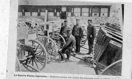 LA GUERRE RUSSO JAPONAISE BATTERIES RUSSES AUX MAINS DES JAPONAIS APRES LA BATAILLE DU YALOU (CARTE PRECURSEUR ) - Andere Kriege