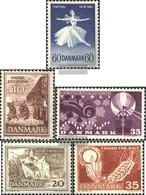 Denmark 403y,404y,407y,408y,409y (complete Issue) Unmounted Mint / Never Hinged 1962 Special Stamps - Dänemark