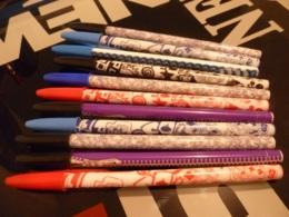 Lot De 11 Stylos Décorés Bic Originaux - Pens