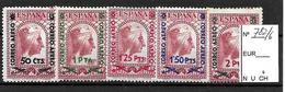 Montserrat Sobrecargada 1938 Serie Completa Con Fijasellos X. Edifil 782/6   120.00 Euros - 1931-Today: 2nd Rep - ... Juan Carlos I