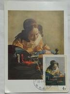 Carte Maximum Card Burundi Vermeer  1968 La Dentellière Carte Nomis Lapina - Arts