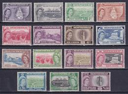 MONTSERRAT 1953, SG# 136a-149, CV £75, Nature, Architecture, MNH - Montserrat